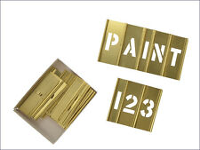 C H Hanson CHH10071 2in Brass Stencils Letters/Numbers 45-Piece Set