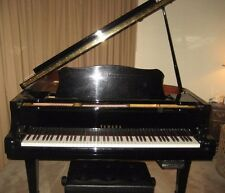 "YAMAHA G3 GRAND PIANO POLISHED EBONY 6'1"" W/QRS PIANOMATION ANCHO PLAYER W/DISCS"