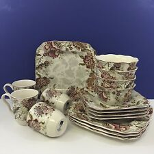 NEW 16 Piece 222 Fifth Gabrielle Cream Porcelain Dinnerware Set