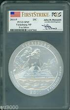 2011-P VICKSBURG AMERICA BEAUTIFUL ATB 5 Oz. SILVER PCGS SP69 FS Mercanti