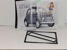 FIAT 500 F / L / R / CORNICE TARGA ANTERIORE E POSTERIORE NERA