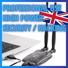 HIGH POWER - 5dB 802.11b/g/n USB WiFi Adapter Dongle - Professional Use Hacking