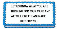 Your choice Any Occasion 1/2 sheet Cake size frosting sugar Topper