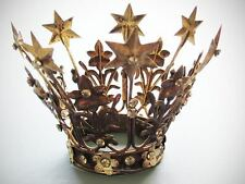 """French Madonna Crown, For Santos, Statues, Wedding Cakes, """"Small"""" Vintage Style"""