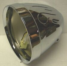 UNIVERSAL ADJURE 7 INCH FLAME HARLEY CUSTOM MOTORCYCLE HEADLIGHT HEADLAMP BUCKET