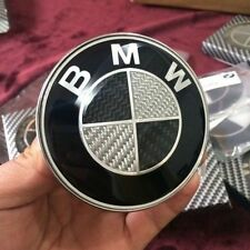 Car Emblem Chrome Front Badge Logo 82mm 2 Pins for BMW  Hood/Trunk Black/Silver