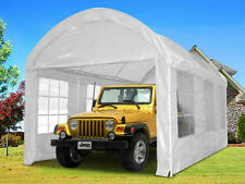 Quictent® 20 x10 Heavy Duty Portable Garage Carport Car Shelter Canopy White