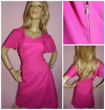 60s BUBBLEGUM PINK DOLLY MOD SCOOTER DRESS 14 TWIGGY MAGENTA 1960s COCKTAIL