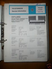 Service Manual Telefunken Allegretto ts 2020 HiFi,ORIG