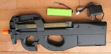 JG P90 Metal Gearbox Airsoft Electric Gun Shoot 400 FPS with 0.2G BB