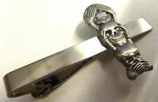 SEE No HEAR No SPEAK no EVIL Monkey Biker Skull Skeleton Suit Work Tie Bar Clip