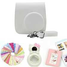 Gmatrix 4 in 1 Fujifilm Instax Mini 8 Case Bag Accessory Bundle Best Gift White
