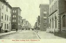 1909 WINCHESTER VA early MAIN STREET Stores Bank looking South postcard
