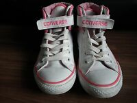 Converse All Star White/pink Hi Top Women's Trainers Shoes UK 1.5 Chuck Taylor