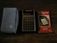 Texas Instruments TI-30 Vintage Scientific Calculator with Case and Manual