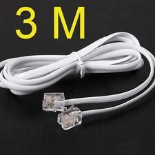 High Speed 3m 10ft RJ11 Telephone Phone ADSL Modem Line Cord Cable