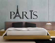 Wall Decor Vinyl Decal Sticker Paris France Eiffel Tower tz464