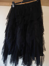 beautiful NOMADS CLOTHING black lace waterfall style party skirt size M