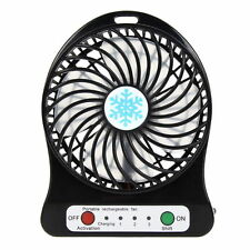 Portable Mini USB Li-ion Battery Rechargeable Multifunctional Fan 3 Gear Speed