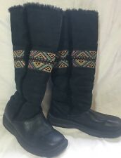 Born Womens Boot Leather Shearling Lining Native Design 8/39 Tribal Soutwest
