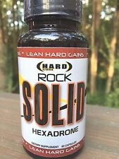 Hardcore Anabolics ROCK SOLID Lean Hard Muscle Mass 60 caps HALOVAR, H-DROL, H50