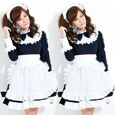 Anime Sexy Cosplay French Maid Long Sleeve Costume Girl Lolita Waiteress Dresses