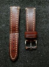 Hirsch Liberty Leather Watch Strap in Gold Brown 22mm width