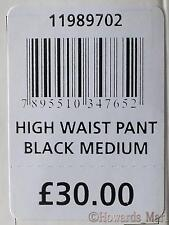 New Scala Bio Fir Anti Cellulite Seamless High Waisted Slimming Panty. Black. M.
