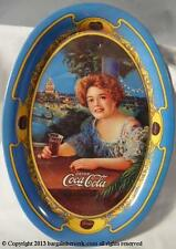 1973 COCA COLA LADY OVAL REPRODUCTION TIN CHANGE TRAY BBA105
