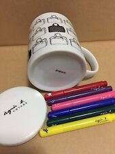 FRENCH FASHION DESIGNER AGNES B NEW COFFEE MUG - with markers to color your mug!