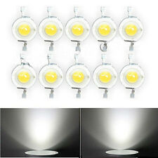 10PCS 3V 1W White High Power Led Lamp Small Beads Bulds DIY Decor 1 Watt