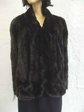 EXCELLENT CANADIAN SHEARED SQUIRREL FUR CAPE WOMEN WOMAN SIZE LARGE