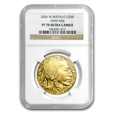 2006-W 1 oz Proof Gold Buffalo Coin - PF-70 NGC - SKU #27356