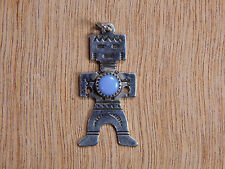 Sterling Silver Turquoise Kachina Pendant Marked Unsigned