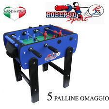 ROBERTO SPORT - Calcio balilla Calcetto ROBY COLOR + 5 Palline - ADATTO BAMBINI