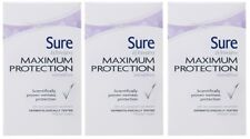 3 x 45ml Sure Women Maximum Protection Anti-Perspirant Deodorant - Sensitive