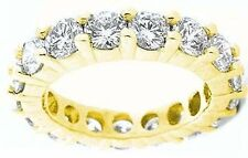 4.50 ct Round DIAMOND ETERNITY RING 18k GOLD BAND .25 ct each, G VS/SI1 any size