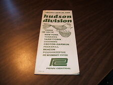 APRIL 1968 PENN CENTRAL FORM 105 HUDSON LINE PUBLIC TIMETABLE