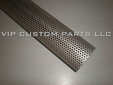 3.0 in. 409 STAINLESS STEEL perforated exhaust tube (4 FOOT LONG)