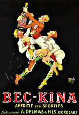 Art Ad Bec Kina Rugbys Aperitif Drink Drinks Liquer Deco Poster Print