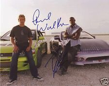 FAST & FURIOUS - PAUL WALKER & TYRESE GIBSON AUTOGRAPH SIGNED PP PHOTO POSTER