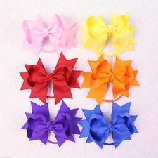 Oferta Venta De Niña Bebé colorido sólido Arcos de la cinta de 3 pulgadas Cabello Elástico y E007-1-15