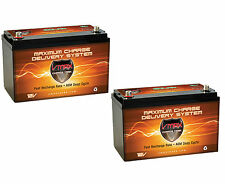 QTY2 VMAX-SLR125 12V 125Ah AGM Solar / Wind Storage Deep Cycle 12 Volt Batteries