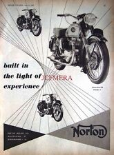 1955 NORTON 'Dominator Model 7' Motor Cycle AD #3: Vintage Original Print ADVERT