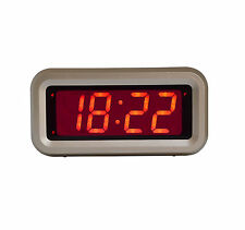 Kwanwa Travel LED Alarm Clock With Large Display and Operated by Battery