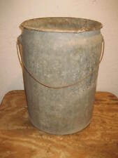 VINTAGE GALVANIZED BUCKET - WEDG-N-SEAL CONTAINER