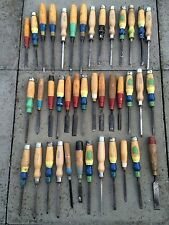 Joblot Vintage Chisels Marples Etc X 40 Large Bundle Wood Working Tools