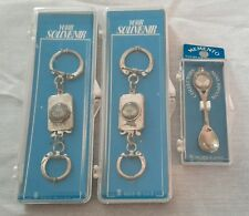 Vintage NOS South Carolina Souvenir Momento Keychains Spoon USA Lot of 3 Silver