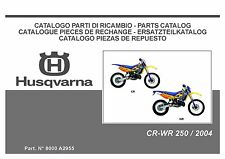 Husqvarna Parts Manual Book 2004 CR 250 & WR 250