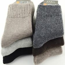 New 5 Pairs Men Wool Cashmere Winter Thick Warm Solid Casual Sports Socks 9-11